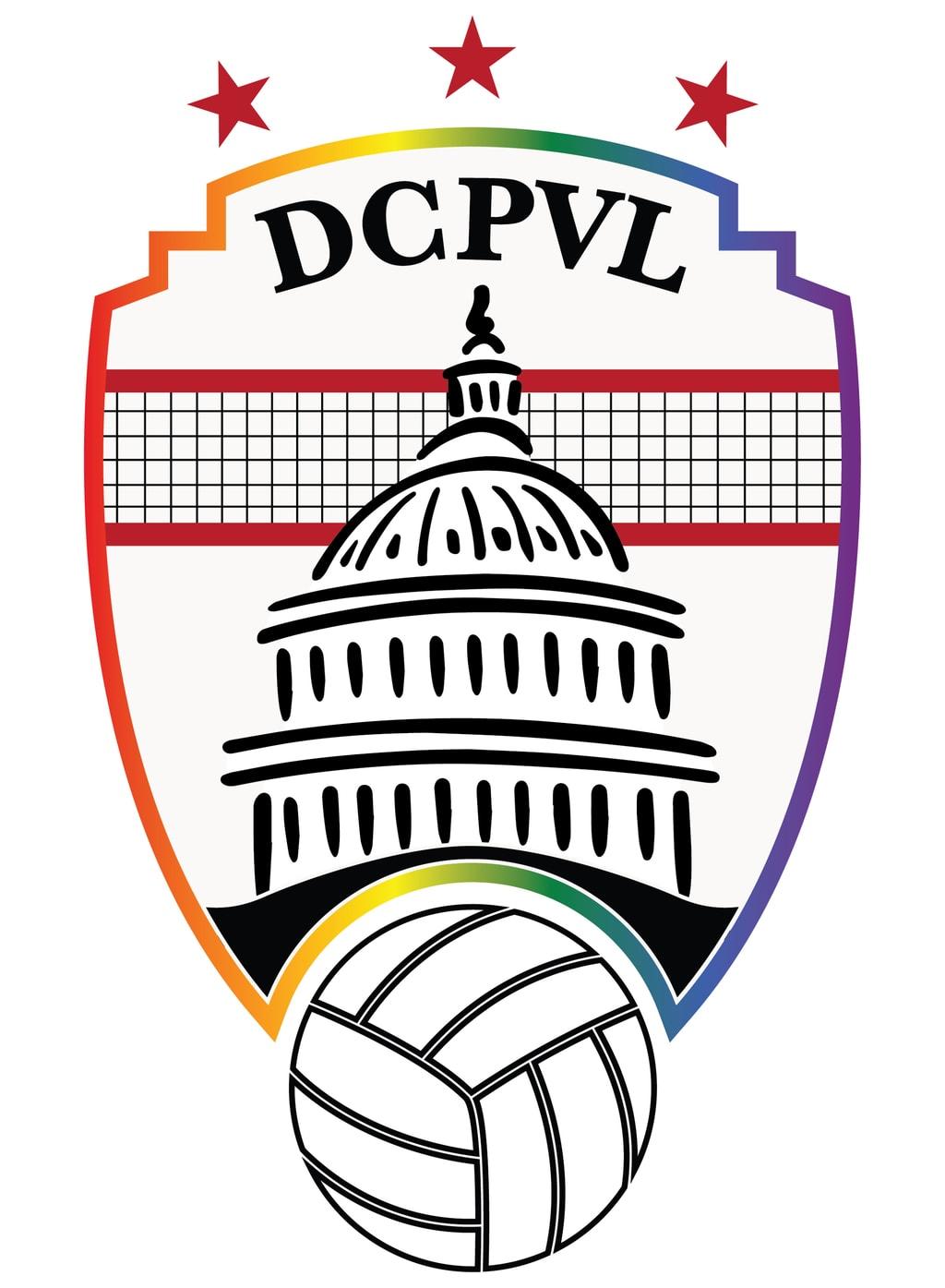 DC Pride Volleyball League Logo